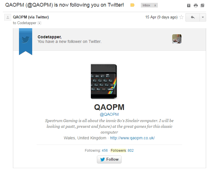 QAOPM is now following you on Twitter