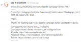Paul Andrews still listed as campaign owner