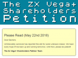 Vega+ Shareholders Petition website has been reported