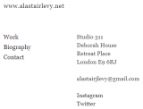 AlastairLevy.net contact information