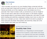 Paul Andrews disgusted by David Levy disability hate crime