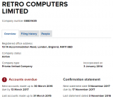 Overdue accounts for Retro Computers Ltd