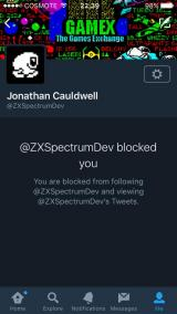 Jonathan Cauldwell blocking people